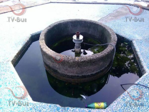 Falta de mantenimiento en la fuente del parque Juárez