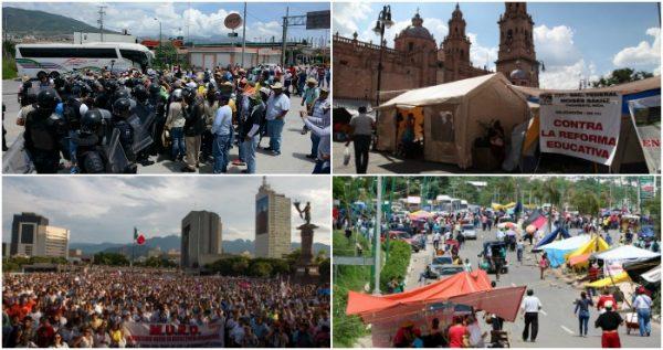 Advertencia de Segob no inhibe a la CNTE: protestas se extienden a Tabasco, Michoacán y Guerrero
