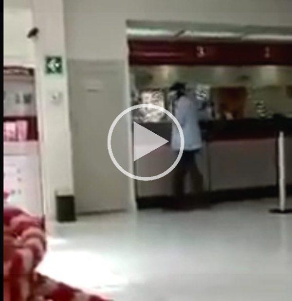 Graban asalto a sucursal de banco en Oaxaca