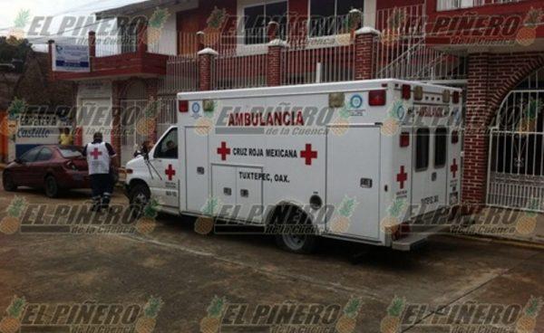 En tiroteo balean ambulancia de la Cruz Roja en Tuxtepec
