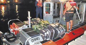Marina decomisa en Huatulco 25 bultos con mil paquetes que contenían cocaína