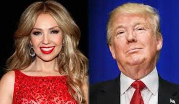 Thalía causa polémica por su pasado con Trump, la llaman #LadyTrump