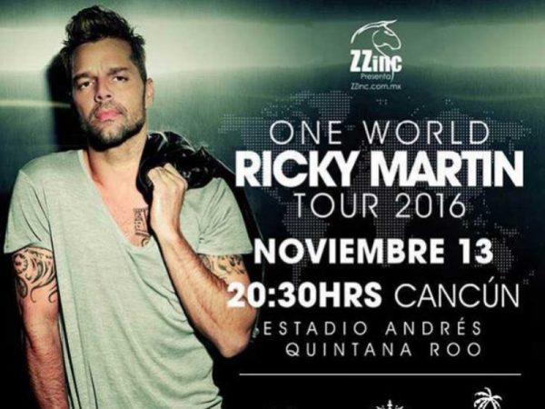 Cancelaría Ricky Martin concierto en Cancún