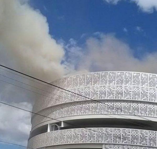 Incendio en edificio del Poder Judicial de la Federación