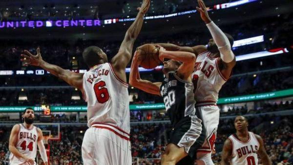 Tropezón de Spurs ante Chicago, mala noche de Ginóbili