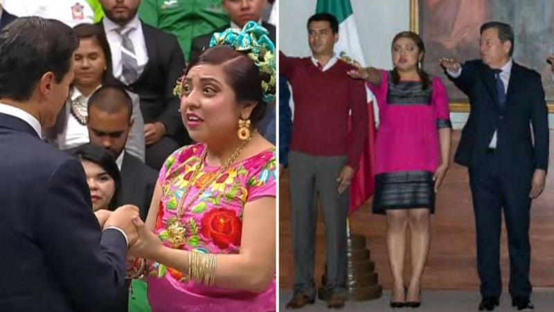 Olivetti, de la felicitación a Peña a funcionaria del gobierno de Oaxaca