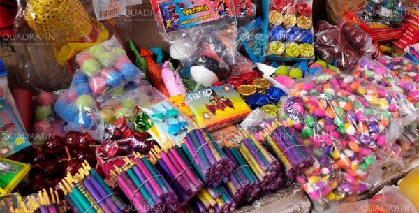 Detectan 7 puestos ambulantes, con venta pirotecnia en Tuxtepec