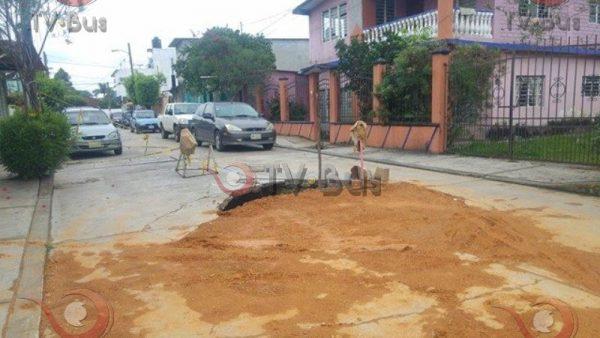 El 75% de las calles del municipio presentan baches y socavones