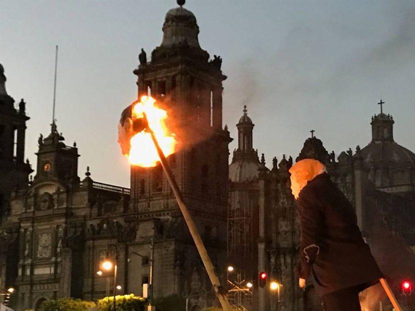 Marchan miles contra el 'gasolinazo' del Ángel de la Independencia al Zócalo
