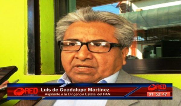 Impugnará Luis de Guadalupe elecciones internas del PAN