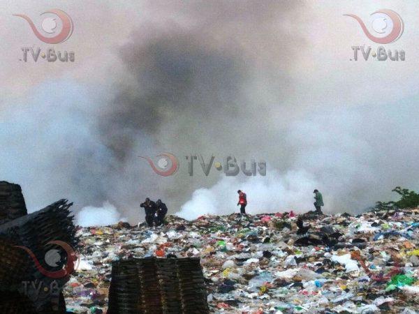 Incendio del basurero municipal fue provocado por cohetes: Protección Civil