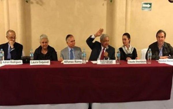 AMLO presenta su 'gabinete' para 2018