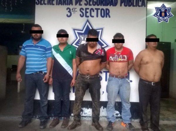 Detienen a 5 sujetos armados en Tuxtepec
