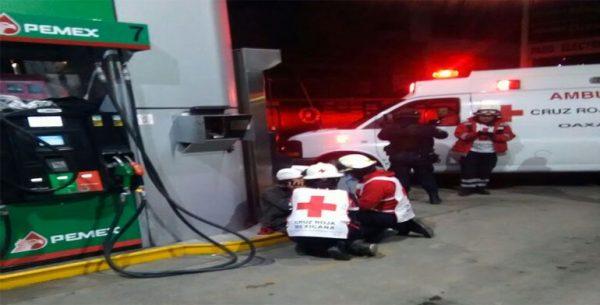 Lesionan en asalto a despachador de gasolinera en la ciudad de Oaxaca
