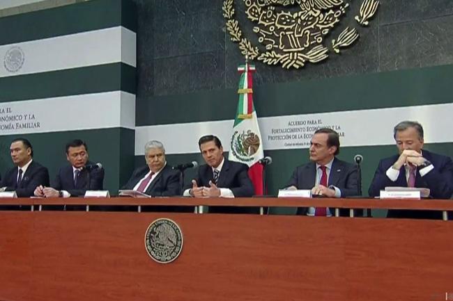 Peña Nieto enumera acciones económicas tras gasolinazo