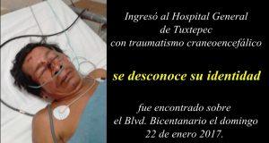 Se pide ayuda para localizar a familiares de hombre internado en el Hospital General de Tuxtepec