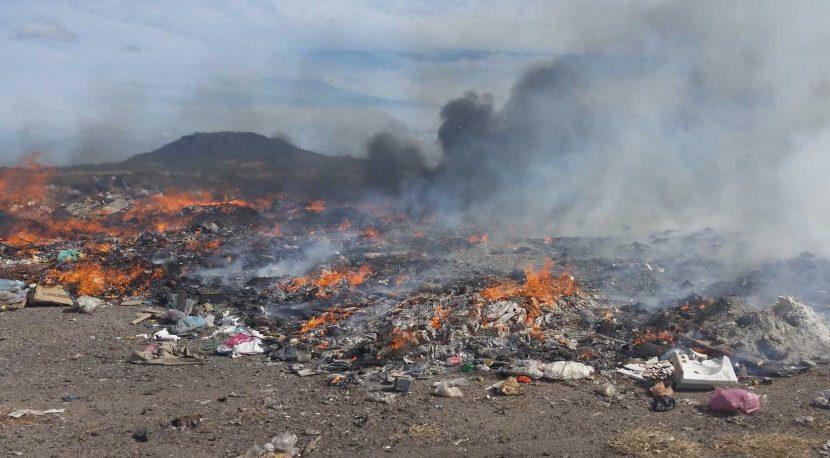 Controlan incendio en basurero municipal de Tuxtepec
