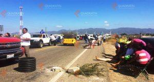 Cierran en Oaxaca carretera que va hacia Veracruz y Chiapas