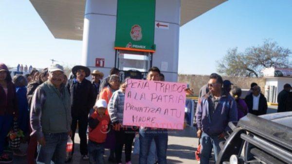 Toman gasolineras en Huajuapan