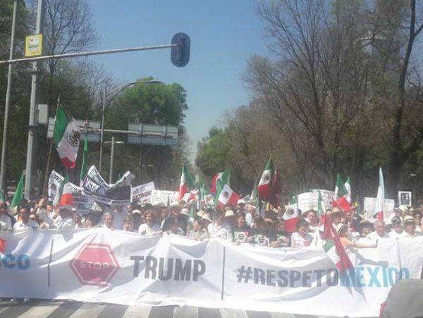 SSPreporta 20 mil asistentes a marchas anti-Trump en la CDMX