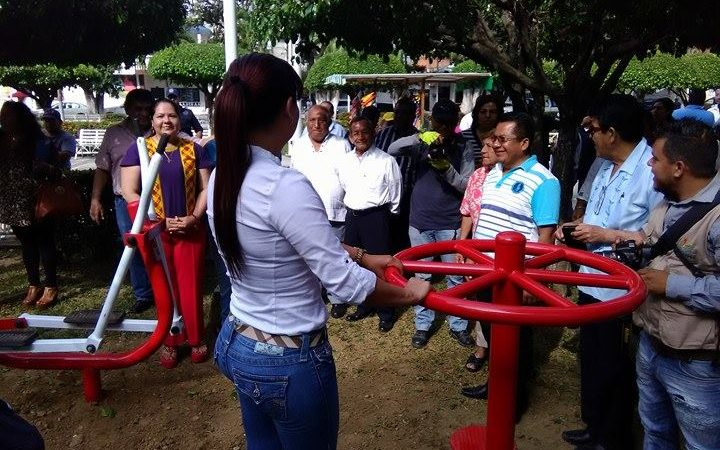Renuevan aparatos de ejercicio en el parque M. Hidalgo