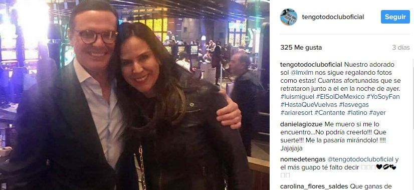 ¡Irreconocible! Luis Miguel reapareció en Las Vegas