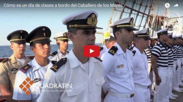Cómo es un día de clases a bordo del Caballero de los Mares +VIDEO
