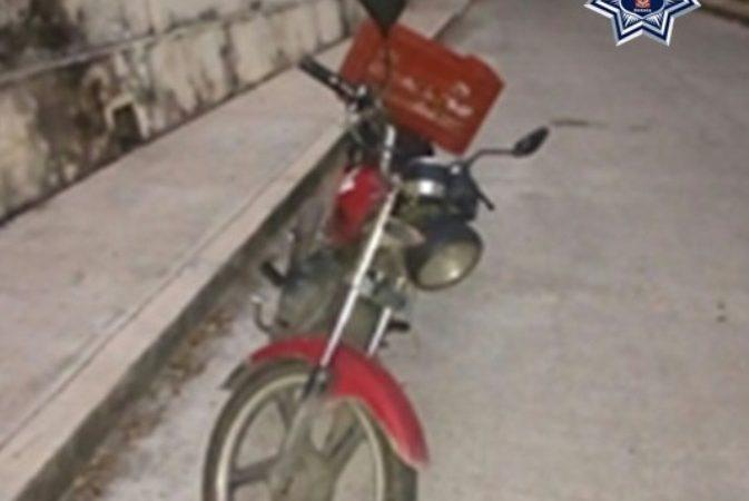Policía estatal identifica y asegura motocicleta robada en Tuxtepec