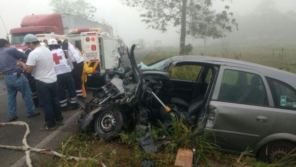 Reporta Cruz Roja accidente vial cerca de Palo Gacho