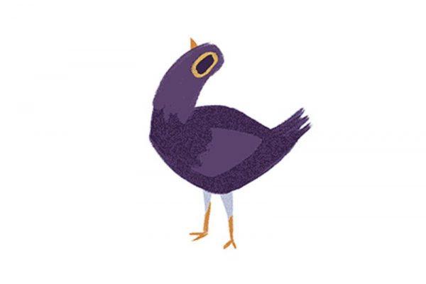 Una paloma morada, el nuevo meme viral de Facebook