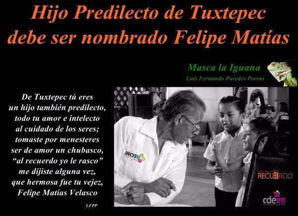 Masca la Iguana/ Felipe Matías, hijo y padre predilecto de la cultura de Tuxtepec
