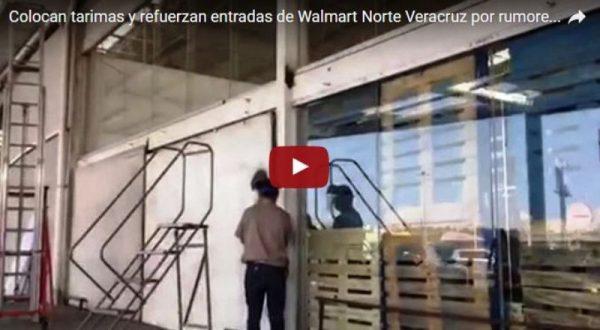 Refuerzan entradas en comercios ante rumores de saqueos en Veracruz (video)