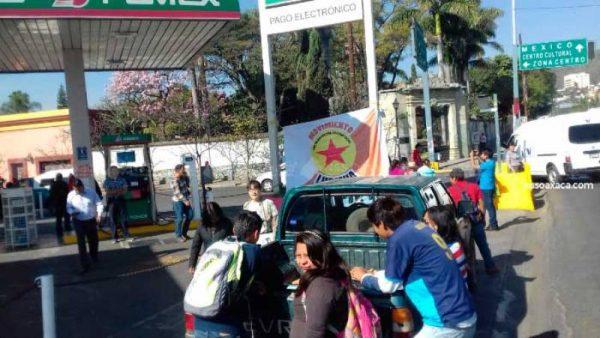 Activistas del Movimiento Lubizha toman la gasolinera Fonapas, demandan obras sociales