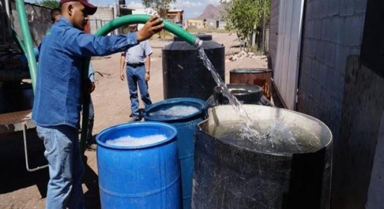 Sin fines políticos reparto de agua en pipas: Gobierno de Tuxtepec