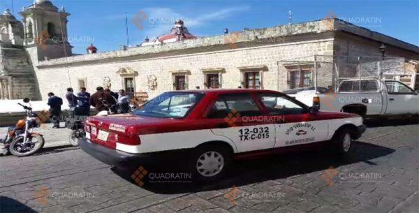 Taxistas de Xoxo afectan con bloqueo la ciudad de Oaxaca