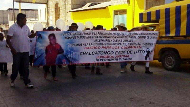 Demandan justicia por menor secuestrada y asesinada