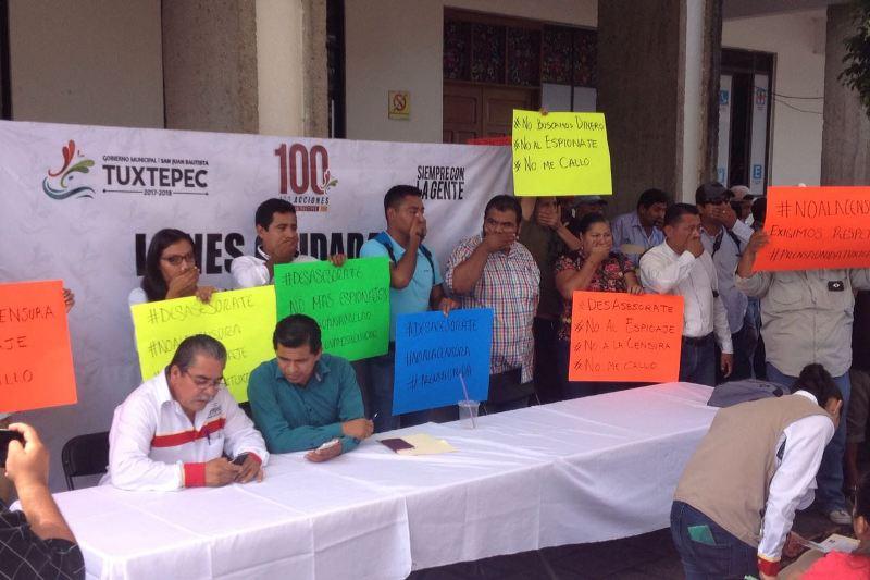 Prensa de Tuxtepec se manifiesta por presunto caso de espionaje telefónico y censura