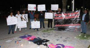 Se manifiestan periodistas en la Mixteca