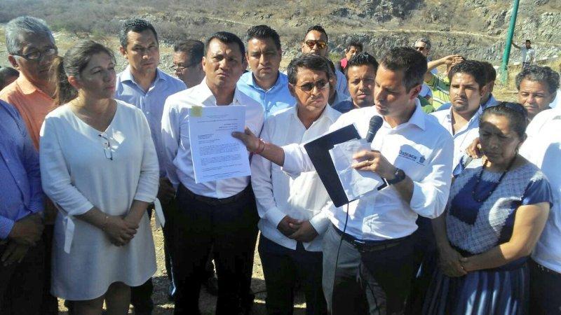 """Realiza el Gobernador Alejandro Murat y Diputados Locales visita histórica a la Presa """"Benito Juárez"""" de Jalapa del Marqués"""