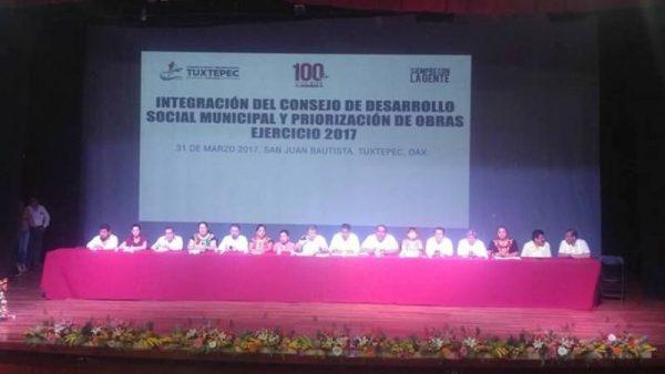 Priorizan 190 obras para Tuxtepec, analizarán cuántas van a realizar