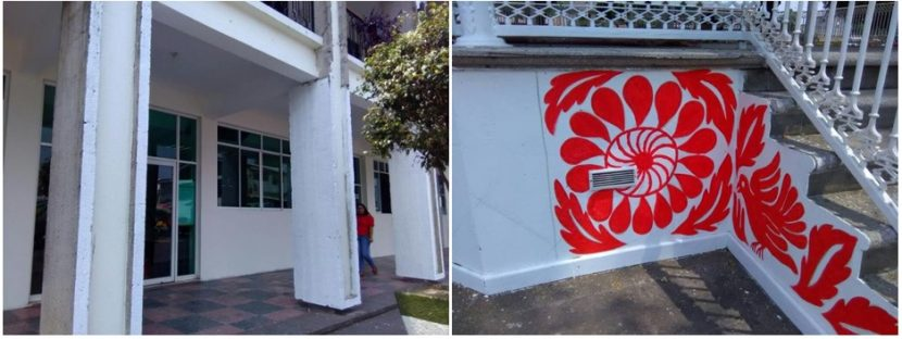 Pese a inconformidades, pintan palacio municipal y kiosko