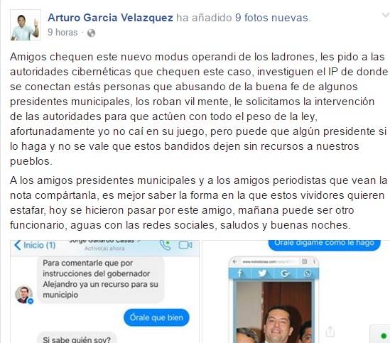 Falso Secretario de Finanzas de Oaxaca intenta defraudar al presidente de Jalapa de Díaz.