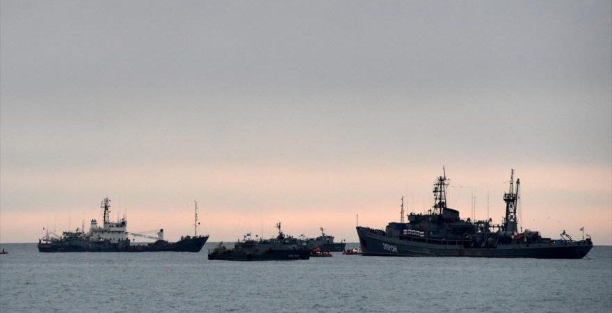 Se hunde un buque militar ruso tras colisionar en el mar Negro