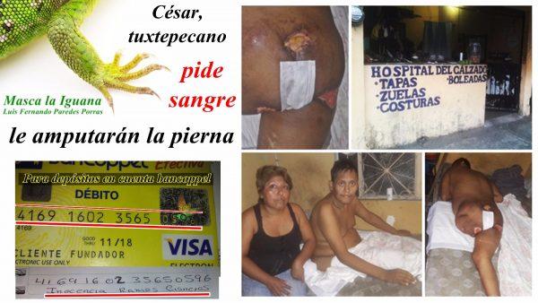 Masca la Iguana César, zapatero Tuxtepecano aferrado a la existencia pide ayuda