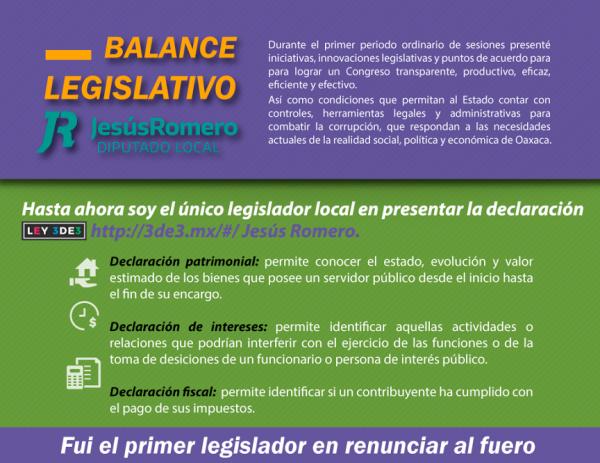 Insistiré en el Sistema Anticorrupción y la Reforma Político Electoral: Jesús Romero