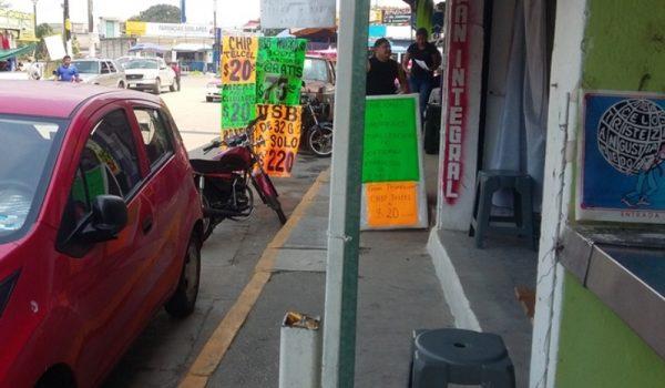 Liberarán banquetas invadidas por ambulantes en Tuxtepec