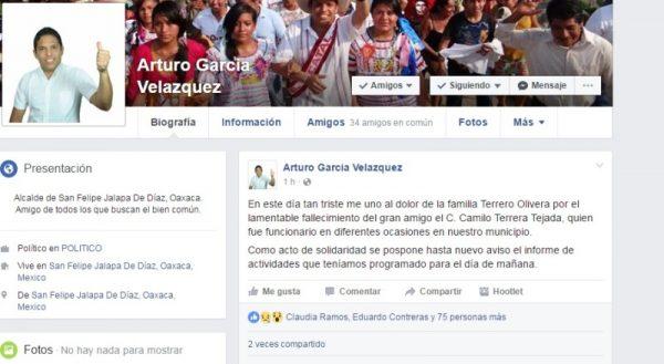 Ante ejecuciones en Jalapa de Díaz, edil pospone informe de 100 días