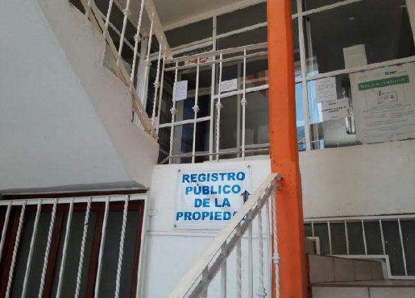 De manera indefinida cierran oficinas del Registro Público en Huajuapan
