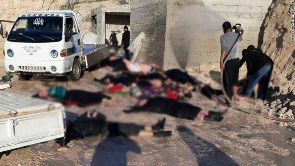 Bombardean la ciudad siria que sufrió un ataque químico