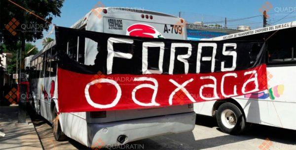 Costaría 200 mdp al Estado liquidación a choferes en huelga en Oaxaca